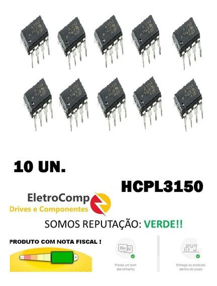 10un. Optoacoplador A3150 Hcpl3150 Dip8 Novo Original