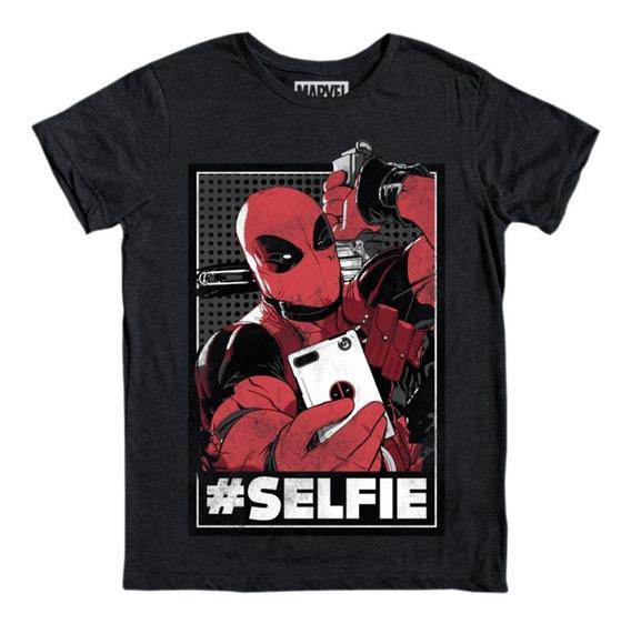 Máscara De Latex Playera Deadpool Selfie