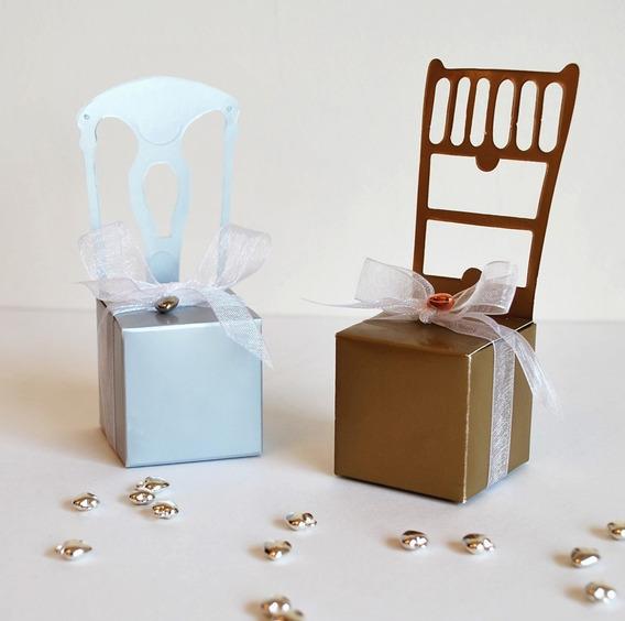 Souvenir Casamiento, Cajas Sillas X 10 Unidades