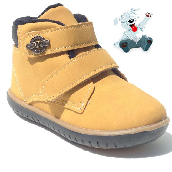 Sapato Infantil Cravinho Casual Klin Mostarda Meninos Tenis