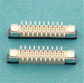 Conector 20 Pinos Passo 1.0mm Contato Vertical P/ Cabo Flat