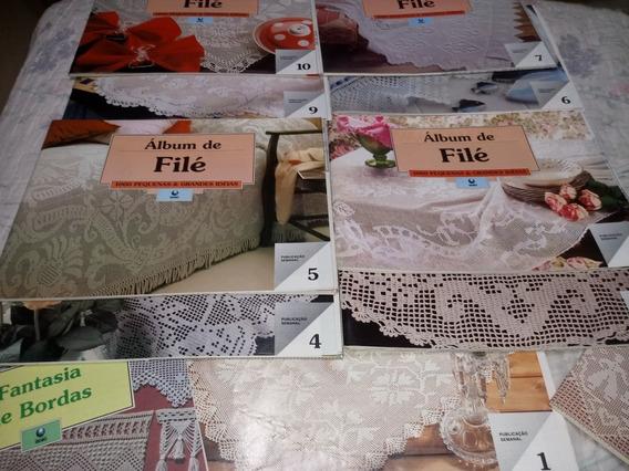 Coleção Revistas Album De Filé Ed Globo Croche E Bordado