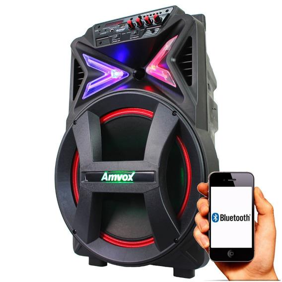 Caixa Som Portátil 290w Rms Bluetooth Potente Amvox