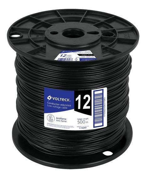 Cable Thhw-ls, 12 Awg, Negro, Bobina 500 M Cab-12n-500 40117