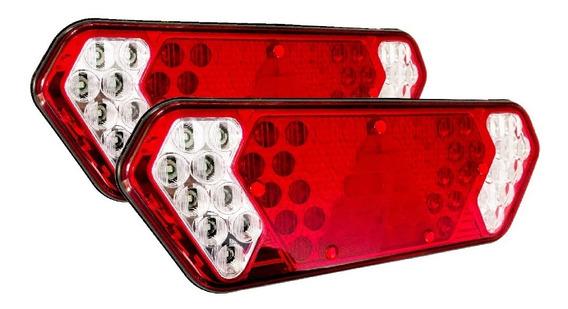 3 Pares Lanterna Traseira Caminhão Carreta Guerra Led Bivolt 6 Lanternas
