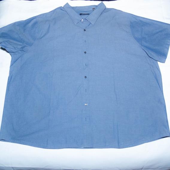 Camisa Hombre Manga Corta Azul 5xl
