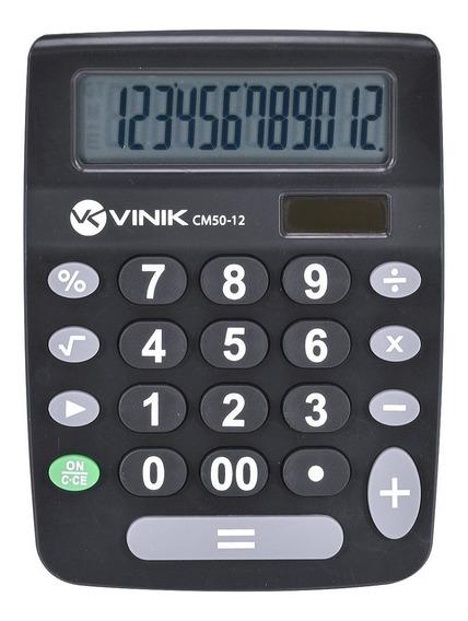 Calculadora De Mesa 21 Teclas Cm50 Preta Vinik