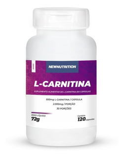 L-carnitina 500mg 120cáps - Newnutrition