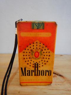 Radio Transistor Cajetilla Cigarrillos Marlboro Funcionando
