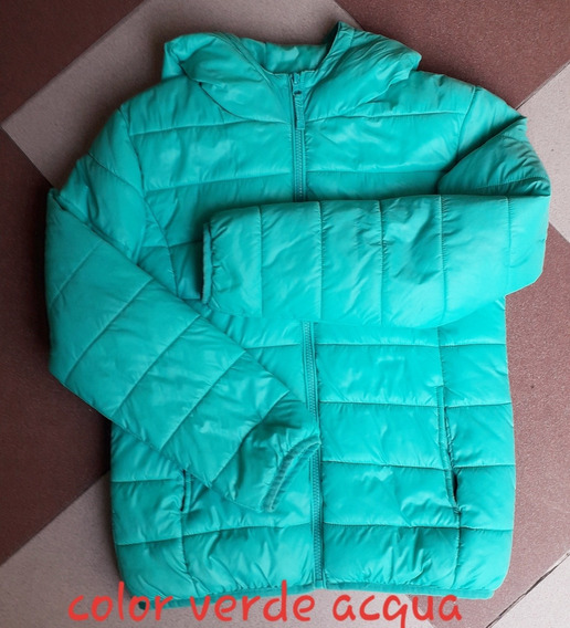 Campera Inflable Verde Acqua Talle 14