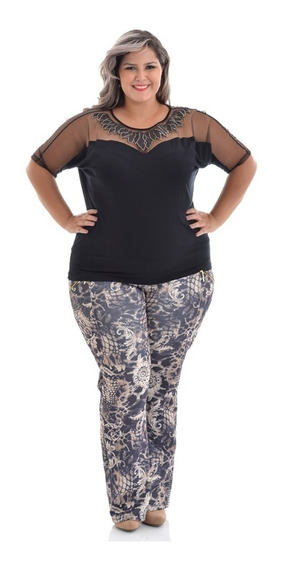 Calça Plus Size Trend - Do 50 Ao 62