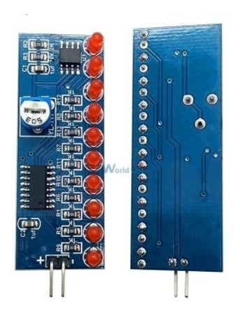 2 Sequencial 10 Canais 10 Leds Cd4017 Kit Para Montar