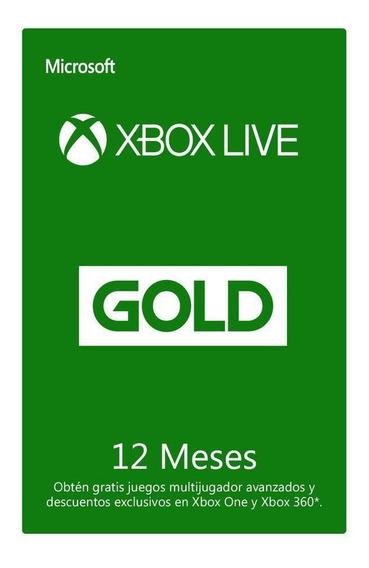 Xbox Live Suscripción 12 Meses Código Digital