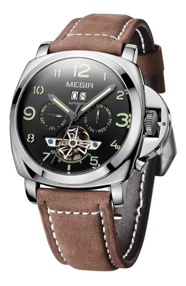 Reloj Cronografo Megir Modelo 3206sym - Original