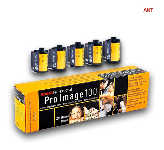 Filme Kodak 35mm Pro Image 100 36 Poses 5 Unidades Entrega + Rápida