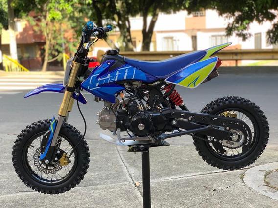Moto Cross 110cc Nueva Srm A Gasolina Para Niños