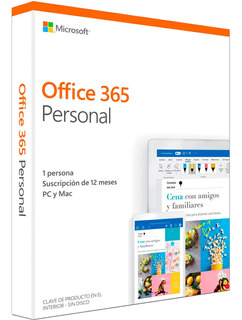 Office 365 Personal 2019 Español - 1 Usuario Windows / Mac