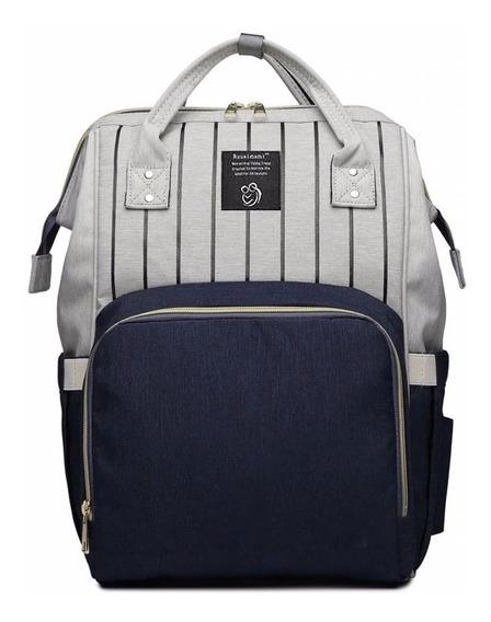 Bolso Mochila De Dama Con Franjas Backpack Style