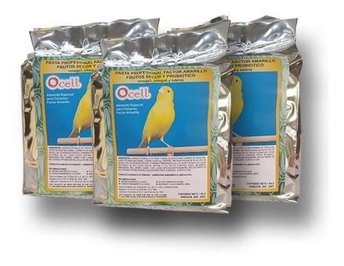 Ocell 3pack Pasta Profesional Factor Amarillo Para Aves 3/1k