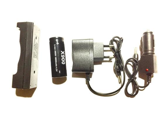 Kit Com 3 Pçs + Baterias 26650 X900 4.2v Jbf Original