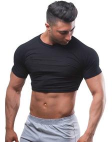 Cropped Camiseta Masculina Top Crop Preto Cod 102
