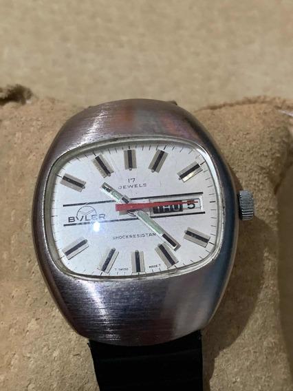 Reloj Buler Suizo De Los Años 70s Retro