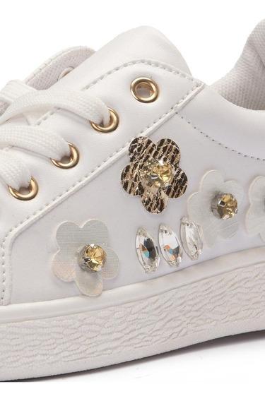 Zapatillas Cuerina Blancas