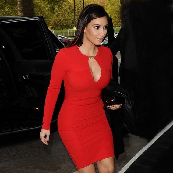 Vestido Curto Colado De Grife Red Luxo Na Moda