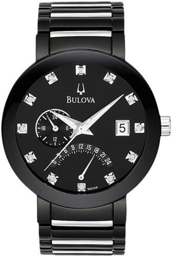 Relógio Bulova 98d109 Diamond Collection Black Masculino