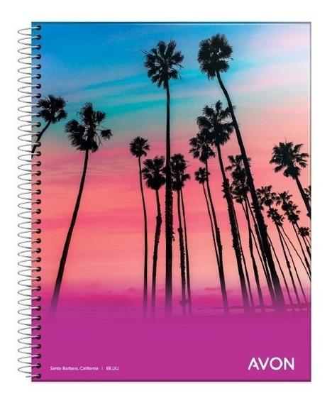 5 Cuadernos Espiral 16x21 Avon 84 Hojas Rayado Cuadriculado