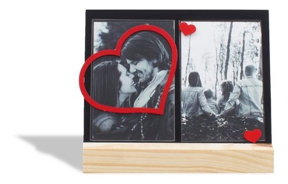 Porta-retrato Coração Vazado Amor
