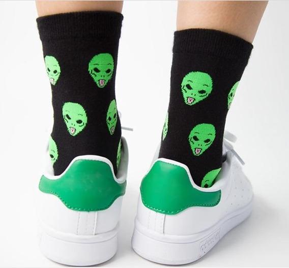 Calcetas Alien Ufo Ovni Extraterrestre Lengua Calcetines Par