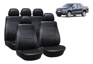 Ya referencias fundas para asientos completamente para VW Amarok no415179 negro-rojo