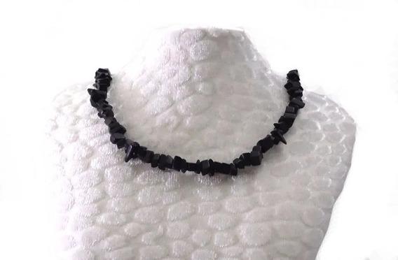Colar Obsidiana Negra Vidro De Dragão Pedra De Proteção