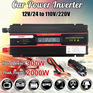 Inversor De Corriente Auto 2000w 12v/24v A 110v/220v Lcd