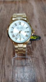 Relógio Atlantis Masculino Dourado Com Calendário Original