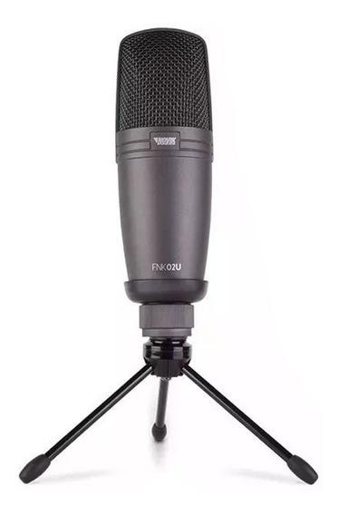 Microfone Usb Condensador Profissional Studio Novik Fnk-02u