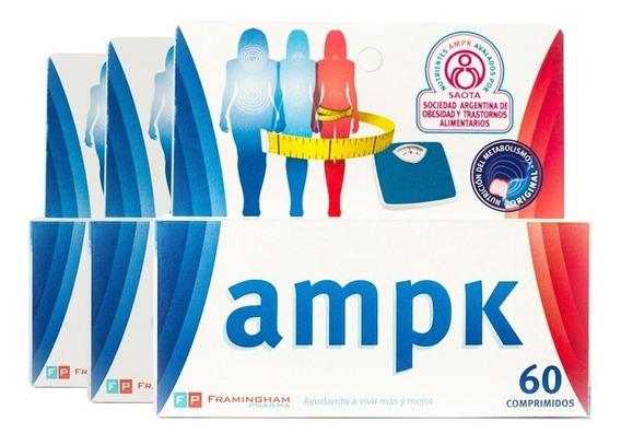 Combo Ampk 60 Comp X 3 (180 Comprimidos) Adelgazante