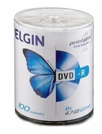 Dvd-r Printable 4,7gb 16x Embalagem C/100 Elgin Imediato