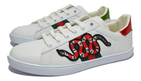 Tenis Gucci Serpiente Blanco, Envío Gratis