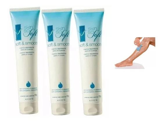 Creme Depilatório Para O Corpo Skin So Soft Com 3 Unid Avon