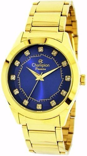Relógio Feminino Champion Dourado Ch24759k Original