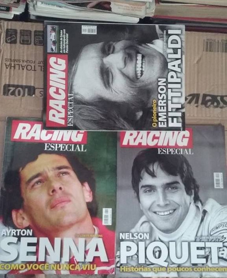 Revistas Racing Especiais Senna, Piquet E Fittipaldi
