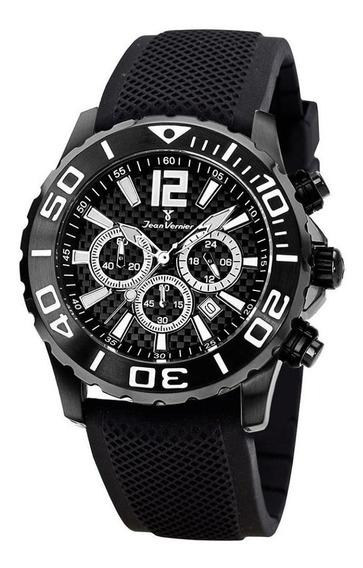 Relógio Pulso Jean Vernier Masculino Cronógrafo Jv02094