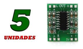 Aplificador Mini Digital 2x3w 5v Kit 5 Peças Pam8403 Barato