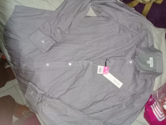 Camisa Calvin Klein Lila Casual Formal De Moda Fashion