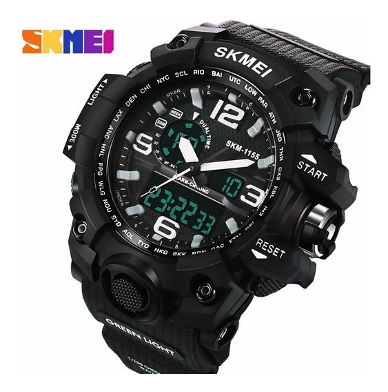 Relógio Masculino Esportivo Skmei Digital E Analógico C/ Led