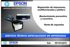 Servicio Técnico De Impresoras Hp Y Epson