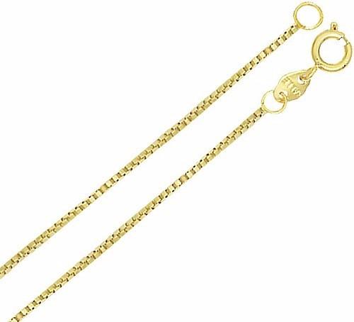 Corrente Cordão Veneziana 40cm Folheado A Ouro 18k