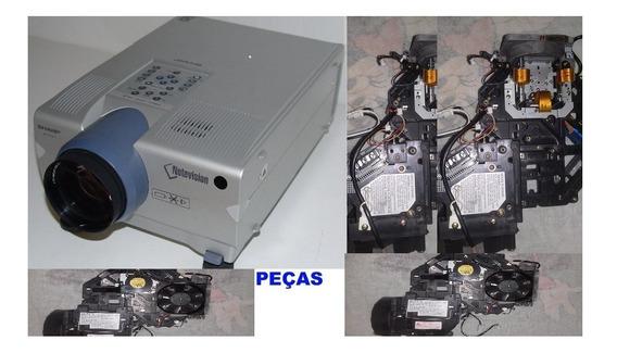 Bloco Optico Com Chip Dmd E Lampada =projetor Sharp Xg-p10xu